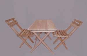 stół składany z krzesłami