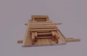 stół, krzesła składane